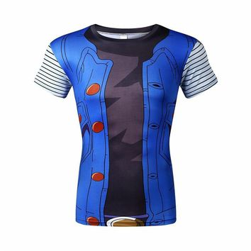Dragon Ball Z 3D Short Sleeve Armor Anime T-Shirt V1