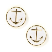 Oversize Anchor Stud Earrings  | Icing