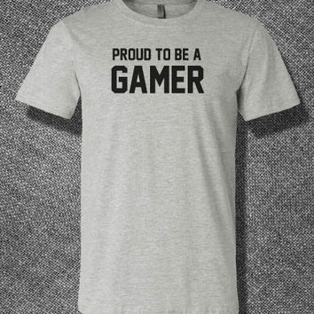 Trendy Pop Culture Proud to be a gamer game xbox ps2 ps3 ps4 league of legends war of warcraft Tee T-Shirt Ladies Youth Adult