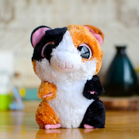 Ty Beanie Boos Kids Plush Toys Big Eyes Brown Hamster Lovely Children Gifts Kawaii Stuffed Animals Dolls Cute
