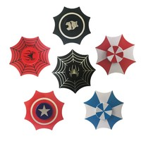 Umbrella Shape Cool Round Shields Hand Fidget Spinner Spiderman Hulk Metal Fingertip Gyro EDC Autism ADHD Stress Relief Toys