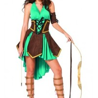 Celtic Warrior Brave Woman Adult Costume Set from Cosplay Costume Closet