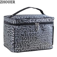 Extra Large Capacity Woman Cosmetic Bags Big Travel Toiletry Bag Letter Pattern Necessary Organizer Makeup Bag Storage ZL100