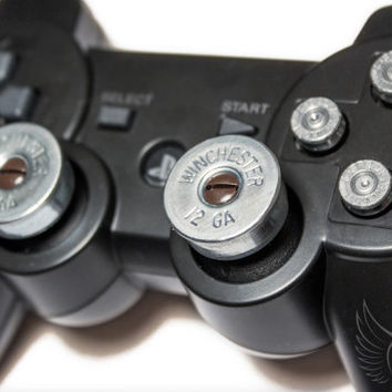 Video Game Controller Bullet Shell Buttons and Thumbsticks - DOLLAR SHIPPING