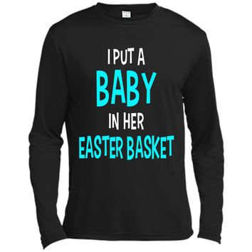 Funny Pregnancy Announcement Dad Easter Baby Announcement Long Sleeve Moisture Absorbing Shirt