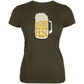 PEAPGQ9 Oktoberfest German Beer Stein Juniors Soft T Shirt