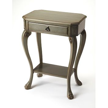 Butler Channing Silver Satin End Table