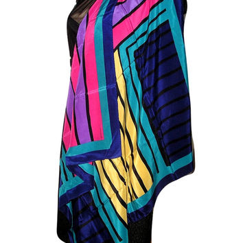 Vintage TREE of LIFE Aboriginal Art Scarf by Jimmy Pike Signed Hand Print - Frameable Art