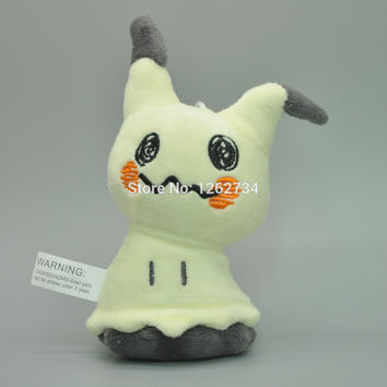 "10/Lot Sun & Moon 5"" Mimikyu  Pikachu Plush Keychain Doll Figure Soft Childrens Gifts"