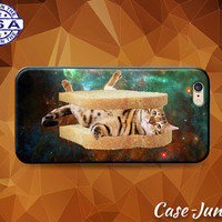 Cat Sandwich Galaxy Space Funny Kitty Toast Kitten Case iPhone 5 5s 5c iPhone 6 and 6+ and iPhone 6s iPhone 6s Plus iPhone SE iPhone 7 +