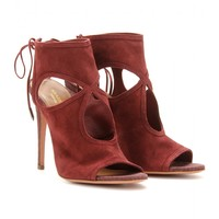 mytheresa.com -  Sexy Thing suede and snakeskin sandals - Luxury Fashion for Women / Designer clothing, shoes, bags
