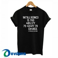 1N73LL1G3NC3 Font T Shirt Women And Men Size S To 3XL