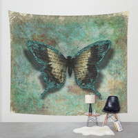 Wall Tapestry - Turquoise Wings - Home Decor - Wall Decor, Modern, Home Warming Gift, Abstract, Dreamy, Romantic, Christmas