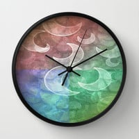 Pastel Stones N Crescent Moons Wall Clock by Minx267