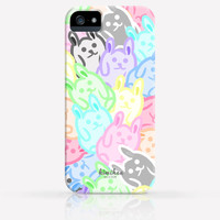 Cute Colorful Bunnies Pattern  iPhone 4 Case, iPhone 4s Case, iPhone 5 Case, iPhone 5s Case, iPhone Hard Plastic Case