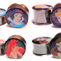 Disney Princess Plugs - Snow White, Ariel, Sleeping Beauty, & Belle