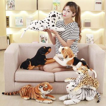 About 45cm Simulation  Dogs and tigers Plush Toy  Stuffed Animal  Dolls Kids Children Birthday Gift Toys