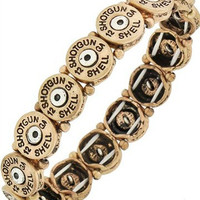 Shot Gun Shell Bracelet | Gold