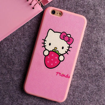 Strawberry Hello Kitty Phone Case For iPhone 7 7Plus 6 6s Plus 5 5s SE