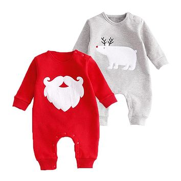 Christmas Baby Rompers Santa Clause Bears Overalls Infant Jumpsuit Baby Clothes Newborn Boy Girl Festival Clothing For Gifts