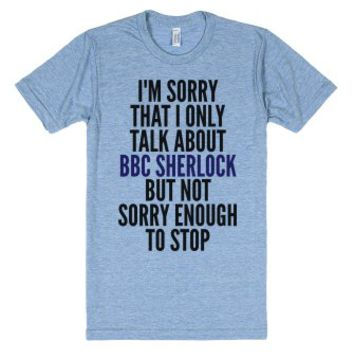 Only Talk About Sherlock-Unisex Athletic Blue T-Shirt