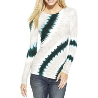 INC Womens Ribbed Knit Tie-Dye Pullover Top