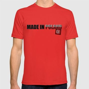 Made in Poland, patriotic shirts, country proud tee shirt design v.2 shadowed T-shirt by Peter Reiss