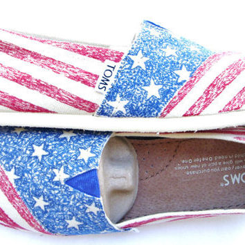 The Liberty - American Flag Custom TOMS