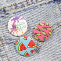 Watermelon Slices 1.25 Inch Pin Back Button Badge