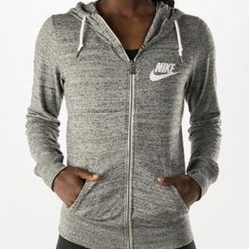 Nike Casual Hooded Zip Knitwear Cardigan Sweatshirt Jacket Coat