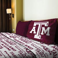 Texas A&M Aggies NCAA Twin Sheet Set (Anthem Series)