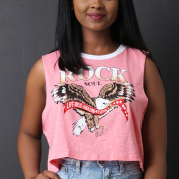 Rock Soul Eagle Graphic Muscle Tank