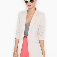 Beach Club Blazer - Khaki in  Clothes at Nasty Gal