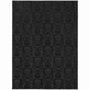 "Jolly Roger Black Area Rug (7'6"" x 9'6"")"