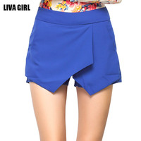 Women Summer Cross Layered Skorts Skirt