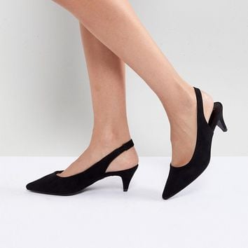 New Look Sling Back Cone Heeled Shoe at asos.com