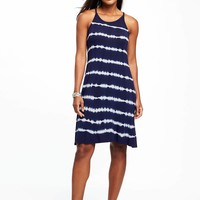 Sleeveless High-Neck Swing Dress for Women | Old Navy