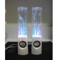 Gotobuy - LED Dancing General Water Show Music Fountain Light Speakers for Iphone Ipad Laptop Pc