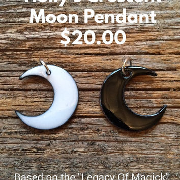 Holly's Crescent Moon Pendant ( Reversible waxing & waning moon)