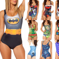 Sexy Bikini S Bodysuit I AM THE BATMAN DIFFERENTLY SANE POISON IVYJOKER'S REVENGE SWIMSUIT Digital Printing Swimwear Women