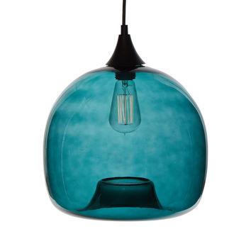 stone & aster Glass Shade Pendant Lamp - Light/Pastel Blue