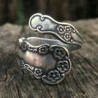 Silver Spoon Ring Style #3 - $18.00 : RagTraderVintage.com, Handmade Indie Retro Accessories