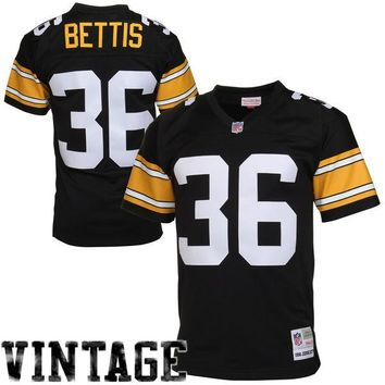 Mens Pittsburgh Steelers Jerome Bettis Mitchell & Ness Black Retired Player Vintage Replica Jersey