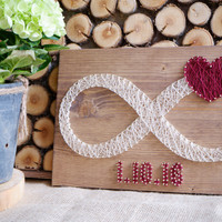 Infinity love sign string art decor