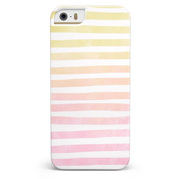 Gold to Pink WaterColor Ombre Stripes iPhone 5/5s or SE INK-Fuzed Case