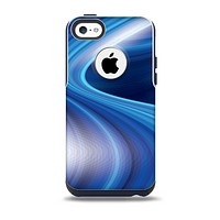 The Gradient Waves of Blue Skin for the iPhone 5c OtterBox Commuter Case