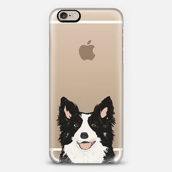 Border Collie Transparent Cell Phone Case for iPhone iPhone 6 case by Pet Friendly | Casetify