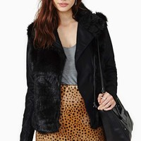 Blank NYC Lie Faux Fur Leather Jacket