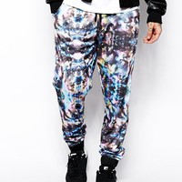 ASOS | ASOS Skinny Sweatpants In Polytrico All Over Print at ASOS