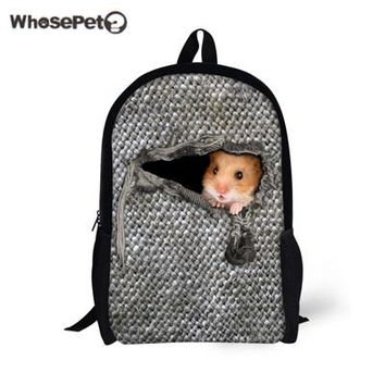 Boys Backpack Bag WHOSEPET Hamster Solid Color Cute s For Teenagers Fashion Schoolbags Girls Book Bags Satchel Women Shoulder Bags AT_61_4